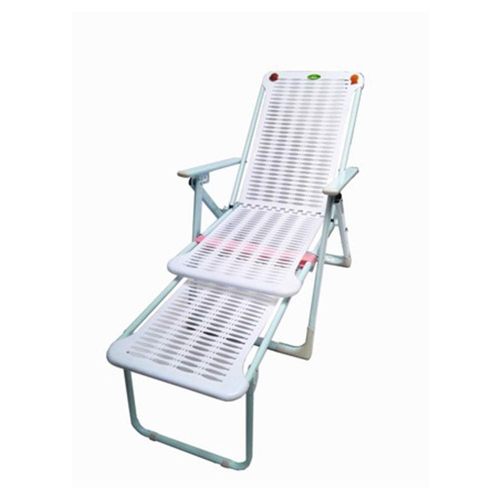 JDGK - ラウンジチェア リクライニングチェア折りたたみ椅子昼休み椅子ビーチチェア怠惰なシエスタチェアレジャーオフィスチェアプラスチックリクライニングチェア - 8974 B07T3H6LX5