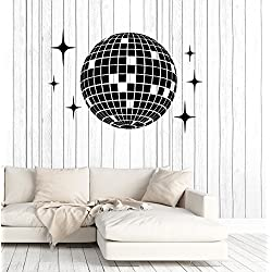 Vinyl Wall Decal Disco Ball Dance Floor Studio Nightclub Party Stickers Mural Large Decor (ig4975) Yellow