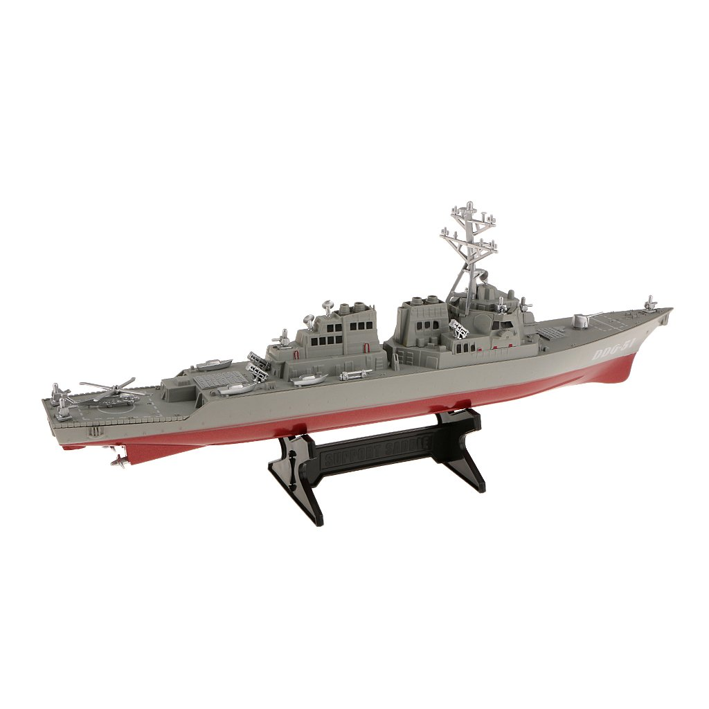 Dovewill Plastic US Navy Battleship Marine Warship 1/350 Model Boat Collectible