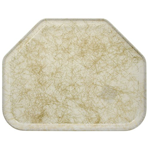 (Cambro Galaxy Antique Parchment Gold 14 In. X 18 In. Trapezoid Camtray - 1418TR526)