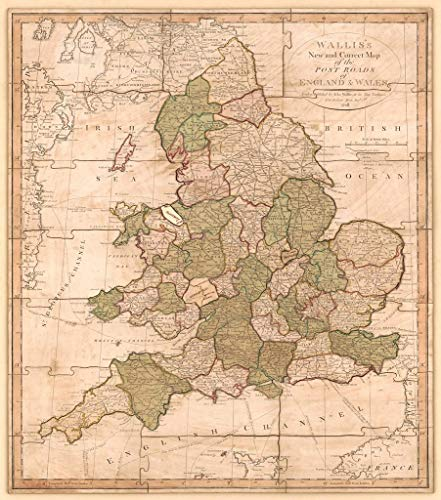 - Art Oyster Vintage Map of England and Wales : with The Principal Roads and Distances of The County Towns for London, 1810-20