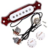 Andoer Red Chelonian Shell Sound Hole Magnetic Pickup for Folk Acoustic Electric Guitar