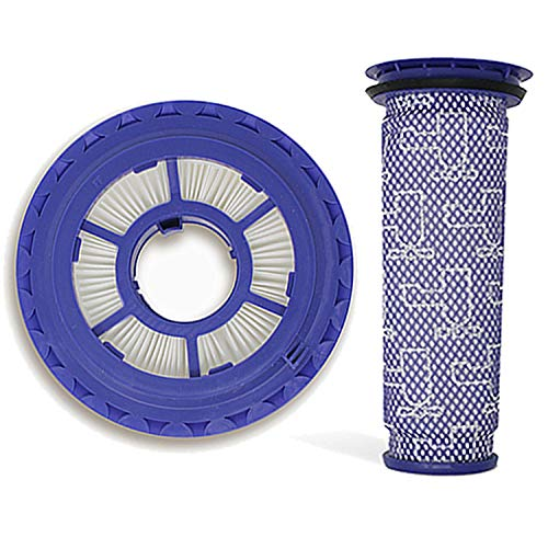 VacuumPal Hepa Post Filter & Pre Filter Replacement for Dyson Animal, Multi Floor and Ball DC41, DC65, DC66 Vacuums, Replaces Dyson Part # 920769-01 & 920640-01