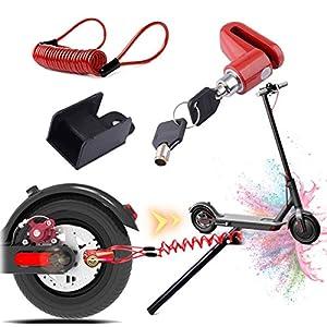 Blocco freno a disco per scooter elettrico antifurto in acciaio con serratura a disco per ruota freno a disco per Xiaomi M365/PRO Scooter elettrico accessori ruote armadietto con corda promemoria 2 spesavip