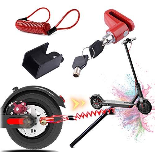 Blocco freno a disco per scooter elettrico antifurto in acciaio con serratura a disco per ruota freno a disco per Xiaomi M365/PRO Scooter elettrico accessori ruote armadietto con corda promemoria 1 spesavip