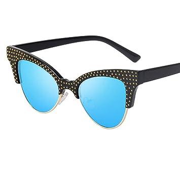 Gafas de sol - Gafas para hombre y mujer Vintage Protección UV Deportes Exteriores Vasos planos Gafas de ciclismo BBestseller (free size, ...