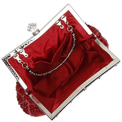 BMC da donna Elegant motivo impreziosita con strass da sera con Cocktail frizione Rosso (Royal Red) Precio Más Bajo Para La Venta Descuento Barato cIszlXI