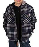 Farmall IH Boy's Thermal Lined Flannel Hoodie 2 Navy/Grey 4