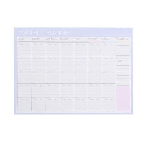 Toyvian 2019 Calendario mensual Agenda diseñador Diario ...