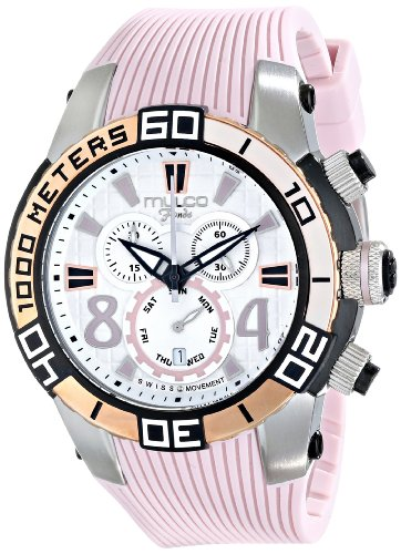 MULCO Unisex MW1-74197-813 Analog Display Swiss Quartz Pink Watch
