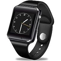 GBVFCDRT Reloj Inteligente Hombres Mujeres Soporte Sim TF Tarjeta Bluetooth Call Podómetro Impermeable Deporte Smartwatch Android iOS