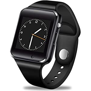 GBVFCDRT Reloj Inteligente Hombres Mujeres Soporte Sim TF Tarjeta Bluetooth Call Podómetro Impermeable Deporte Smartwatch Android