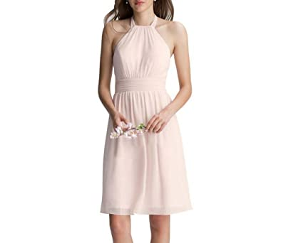 Vestidos de mujer Novias Vestidos de dama de honor cortos sin mangasVestidos (Color : Rosado