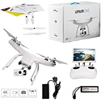 UPair One 4K HD Camera Drone, 5.8G FPV Monitor Transmit Live Video, 2.4G Remote Controller, GPS Drone, Auto Return 7inch Screen Quadcopter Drone
