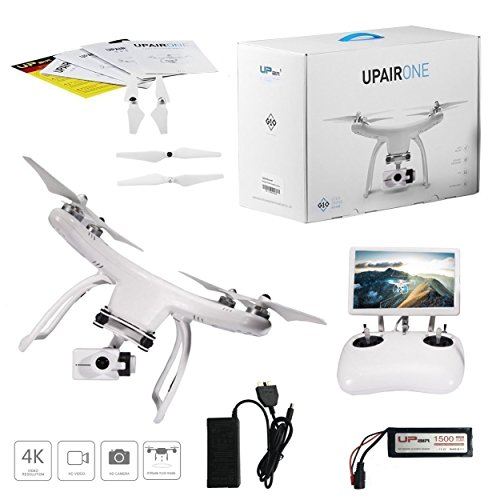 UPair One 4K HD Camera Drone, 5.8G FPV Monitor Transmit Live Video, 2.4G Remote Controller, GPS Drone, Auto Return 7inch Screen Quadcopter Drone by UPair