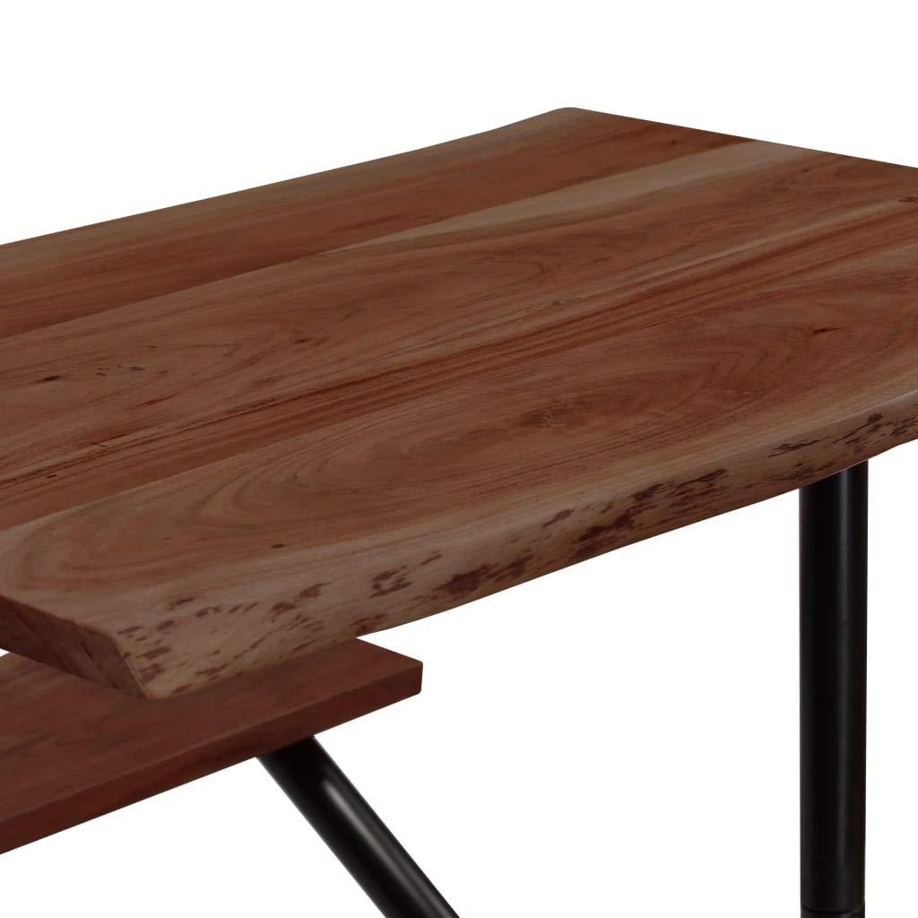 Tavolo da Bar con Panche in Massello di Recupero 80x50x107 cm Festnight