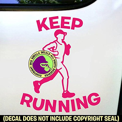 KEEP RUNNING Marathon Runner Vinyl Decal Sticker C