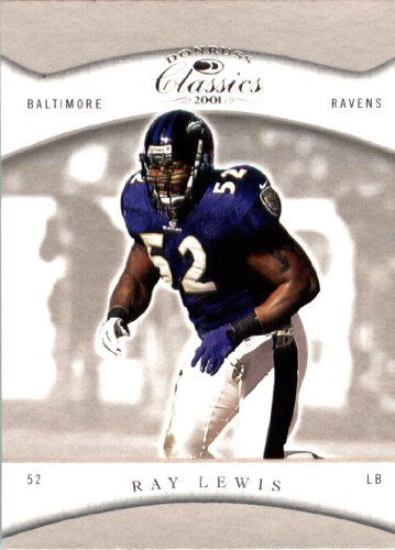 Ray Lewis Card - 2001 Donruss Classics Football Card #9 Ray Lewis Baltimore Ravens