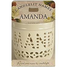 """Candlelit Names 001850020 """"Amanda"""" Votive Candles"""