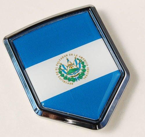 Chrome Emblem Decal Stick (El Salvador Emblem)