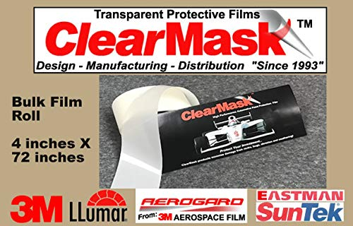 ClearMask 4' X 72' Fabricated Paint Protection Film Roll (8 Mil Clear Urethane Film from 3M, Eastman Llumar Suntek or Equal) ClearMask Protective Films