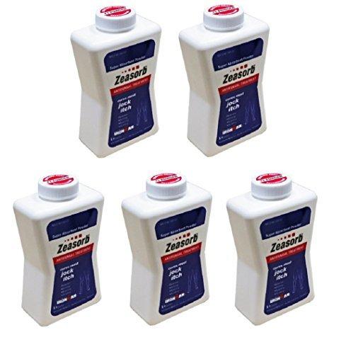 Pack of 5 Zeasorb-Af Powder Jock Itch 2.5 Oz by Marble Medical
