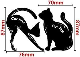 2pcs Cat Eyeliner Stencil Maquillaje Modelos de Cejas Tarjeta de Plantilla/ Gato Negro delineador de Ojos diseño/Sombra de Ojos Maquillaje delineador de Ojos moldes (Negro): Amazon.es: Electrónica