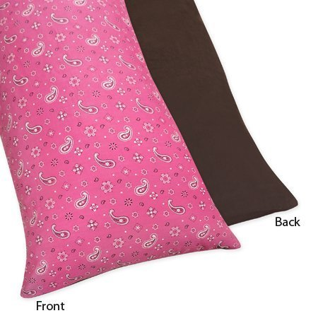 Cowgirl Pillow - Sweet Jojo Designs Western Horse Cowgirl Full Length Double Zippered Body Pillow Case Cover