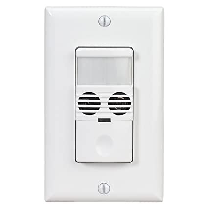 intermatic ios dov dt wh line voltage in wall dual tech switch rh amazon com Motion Sensor Wiring Multiple Lights Wiring a Motion Sensor Light