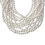 AA Freshwater Cultured Pearl Multi-Strand Necklace with Sterling Silver Clasp, 18""