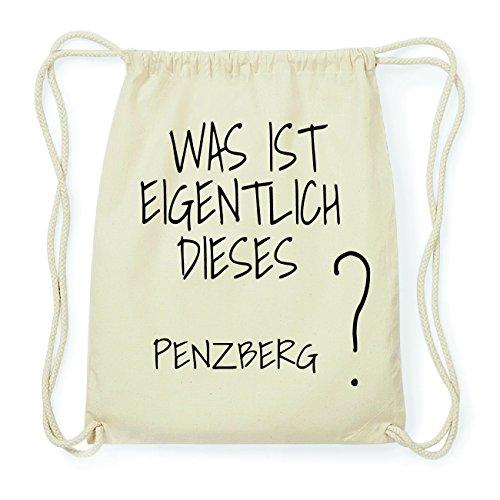 JOllify PENZBERG Hipster Turnbeutel Tasche Rucksack aus Baumwolle - Farbe: natur Design: Was ist eigentlich