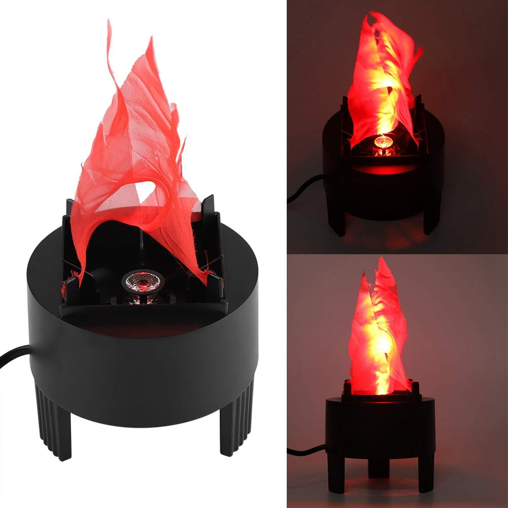 LED Fake Fire Flame, Artifical Fire Effect Light Simulated Flame 3D Campfire Centerpiece Torch Light for Christmas Halloween Party Decoration (US Plug, No Heat Base Support)(3W)