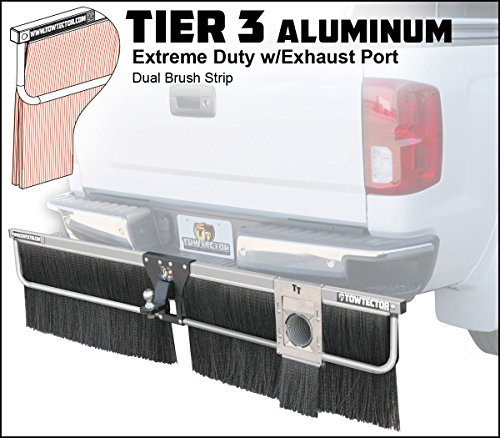 Towtector Aluminum Tier 3 Mud Flap 27820-T3ALEP Extreme Duty Dual Brush Strip with Single Exhaust Port - 78