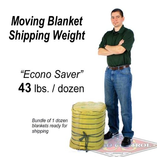 72'' X 80'' US Cargo Control Moving Blanket (12-Pack) - Econo Saver (43 lbs/dozen, Blue/Blue) by US Cargo Control (Image #7)