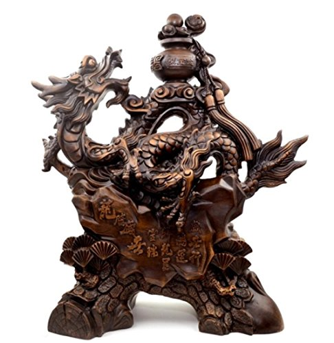 GL&G Lucky Dragon Decoration Shop opened Home living room Decorations office Tabletop Scenes Ornaments Collectible Keepsakes High-end Business gift,461952CM by GAOLIGUO