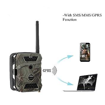 Táctico de Caza Digital cámara GPRS MMS Alarma PIR Detector de movimiento Sensor de imagen CMOS