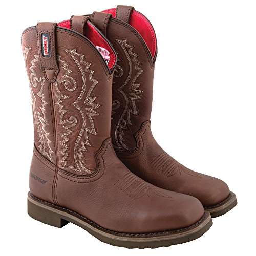 Rocky Men's 11 Inch Western Barntec Boot, Dark Brown, 10 M (Waterproof Wellington Pull)