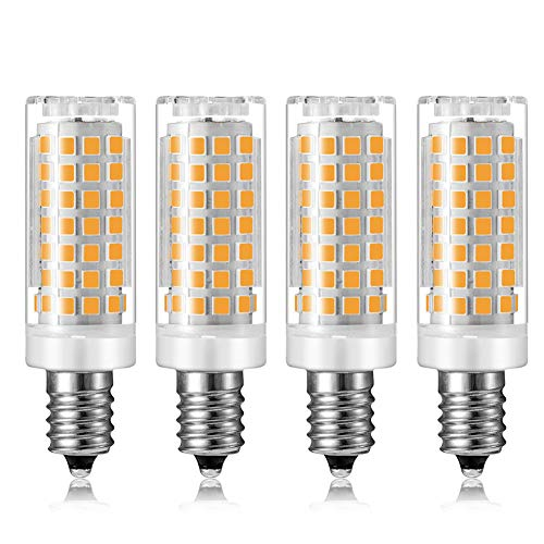 (MD Lighting 9W E12 Mini Corn Bulbs Candelabra LED Light Bulb (4 Pack)- 88 LEDs 2835 SMD 900LM Warm White 3000K Chandelier Decorative Bulb 80 Watt Equivalent for Home Lighting, Non-Dimmable, AC 120V)
