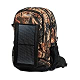 PowerKeep ENERGIZER Wanderer, 30L Solar Backpack w/10000mAh BATTERY, rugged and flexible SOLAR PANEL, powerbank, hydration ready (camo)