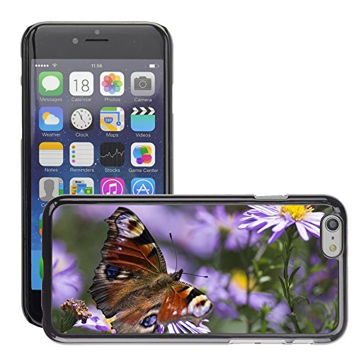 "Bild Hart Handy Schwarz Schutz Case Cover Schale Etui // M00133650 Peacock Butterfly Butterfly // Apple iPhone 6 PLUS 5.5"""