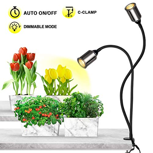 Bozily Grow Lights for Indoor Plants Full Spectrum with Timer-75W COB CREE Sunlike Plant Light with 3/6/12/24H Timer 5 Dimming LED Sunlight Growing Lamp for Plants Seedling Blooming Fruiting [Upgrade] (Low Sunlight House Plants)