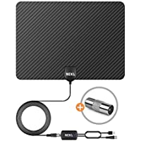 Digital Antenna for HD TV Support All Digital TVs Including 4K and 1080P. Watch All Public Digital Channels. Enable a Reception Range up to 200 Miles with an Amplifier (Included). NEKL-American Brand