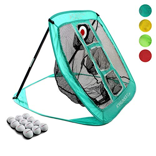 Rukket Pop Up Golf Chipping Net | Outdoor / Indoor Golfing Target Accessories and Backyard Practice Swing Game | Includes 12 Foam Practice Balls ()
