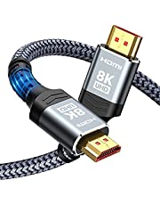 $28 » 8K Long HDMI Cable 20FT/6M 48Gbps, Highwings Ultra High Speed HDMI 8K60Hz 4K120Hz 144Hz eARC HDR HDCP 2.2 2.3 Compatible for Dolby Vision, PS5 and Projector