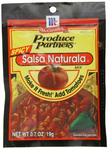 Produce Partners Salsa Naturala Mix Spicy, 0.7-Ounce (Pack of 12)