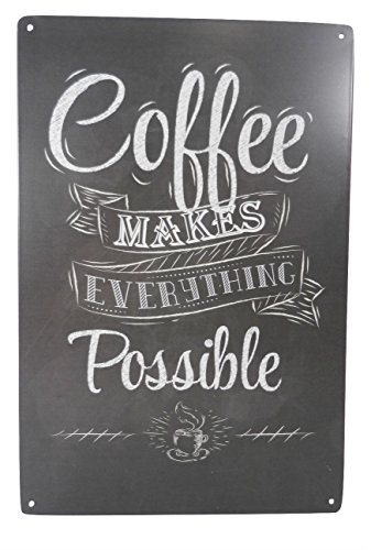 Coffee Makes Everything Possible Funny Tin Sign Bar Pub Garage Diner Cafe Home Wall Decor Home Decor Art Poster Retro Vintage ()