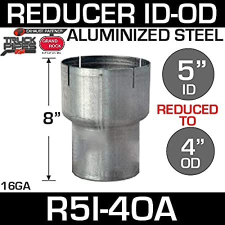 """4/"""" ID to 3.5/"""" ID Diesel Race Exhaust Reducer"""