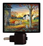 Fall / Autumn Night Light - Pumpkin Harvest - Country Fall Scene