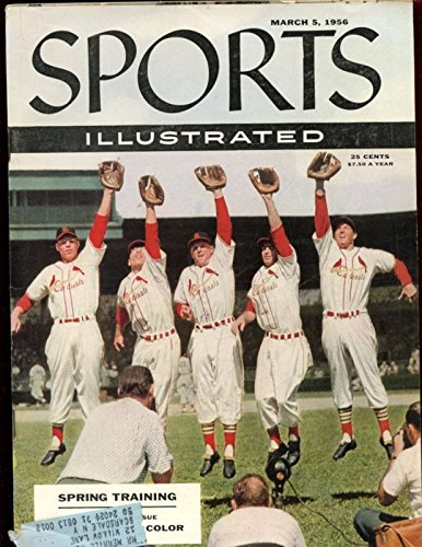 March 5 1956 Sports Illustrated Magazine With St. Louis Cardinals Cover Exmt