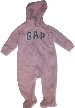 NWT BABY GAP GIRLS LOGO ONE-PIECE ROMPER heathered pink   u pick size